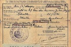 Gemobiliseerde militairen mochten zelden met verlof. Verlofbrief van Julien Van Der Smissen van de 14de compagnie uit maart 1940, getekend door Onderluitenant Van Overeem.