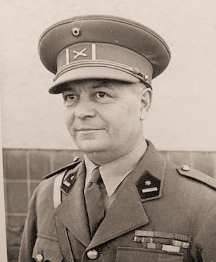 Majoor Walter Lafaut, bevelhebber van de IIIde Groep.