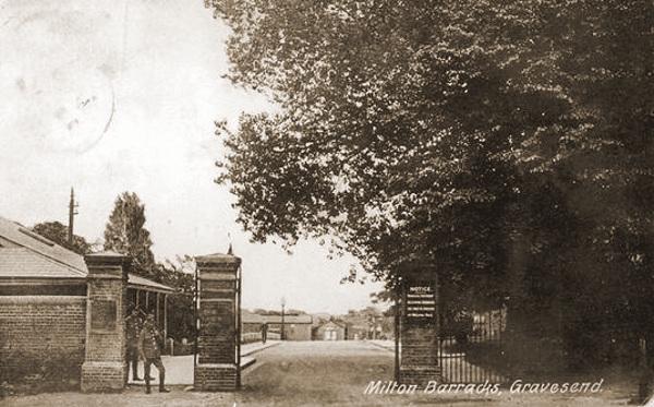 Milton Barracks in Gravesend (vooroorlogse foto).