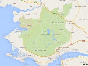 Streek van Saint-Nazaire waar de resterende grenadiers worden ingehaald door de vijand