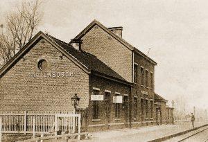 Het station van Kortenbos langs spoorlijn 21 waar de Dagelijkse Ravitailleringstrein voor de 1Div toekwam en waar de bevoorradingsplaats van de 1Div is ingericht.