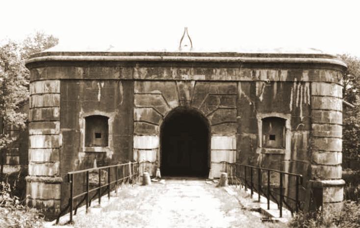 Ingang van het Fort van Oelegem, bemand door de 12Cie van het IIIde Bn.