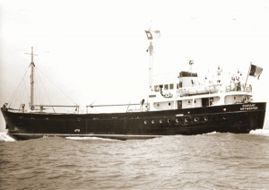 Het koopvaardijschip Diamant van John Cockerill Line waarmee enkele officieren van 26A naar Engeland ontsnapten.