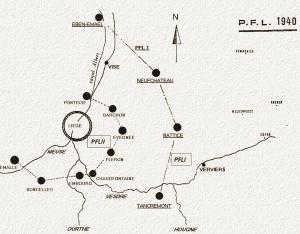 De PFLII linie is ongeveer 28Km lang is en loopt van Barchon tot Boncelles.