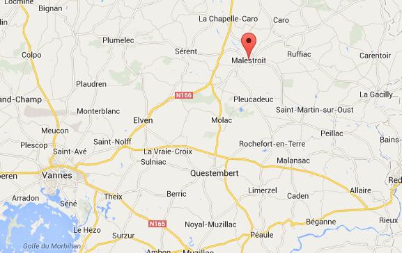 Hergroeperingszone 7Div in Morbihan in Bretagne.