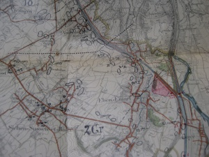 Weg van Riemst naar Eben-Emael in de ondersector van 2Gr waarlangs de 1Cie van I/11Li gestuurd wordt.