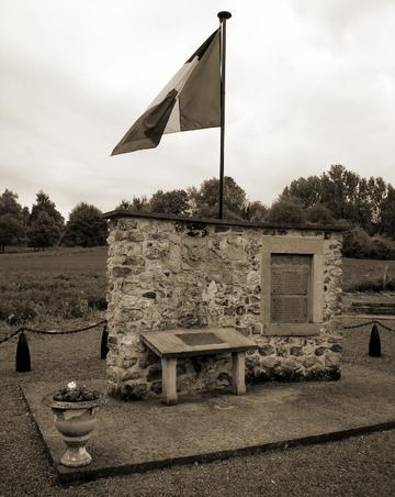 Monument voor het 20A bij fort Eben-Emael.
