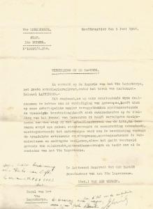 Exemplaar van Soldaat D'Haese van het dagelijks order van het V/LK met de vermelding van het 26A