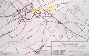 Drie bruggen van Drieslinter in het vak van II/3L die door 2Cie/26Gn op 12 mei vernield werden [6]