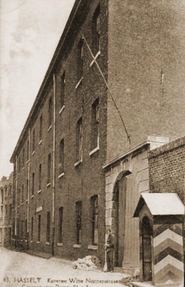 De Witte Nonnenkazerne te Hasselt waar de CP van de 2Cie zich bevond aan de vooravond van de oorlog