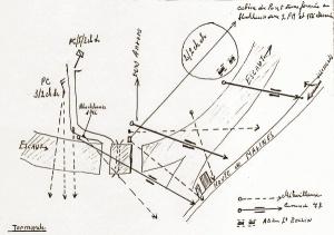 Opstelling van de Groep de Brabandère op de Scheldebruggen op 18 mei.