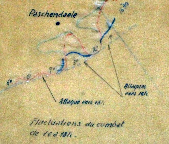 Eerste Duitse aanvallen op de posities van het Iste Bataljon en IIde Bataljon van het 31Li op 27 mei.