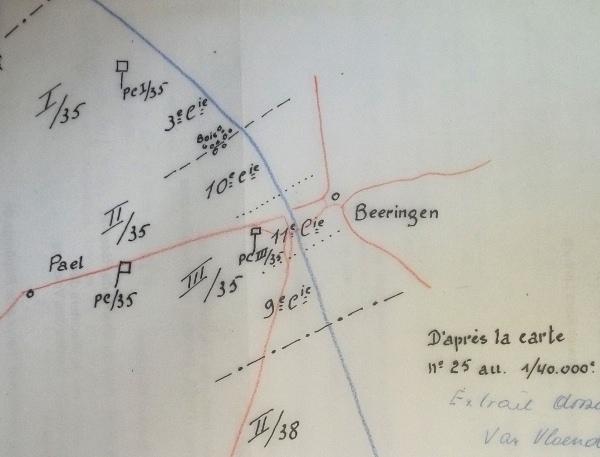 Initiële opstelling van het 35Li aan het Albertkanaal (Sectie Classified Archives, Algemene Dienst Inlichting en Veiligheid, Ministerie van Defensie).