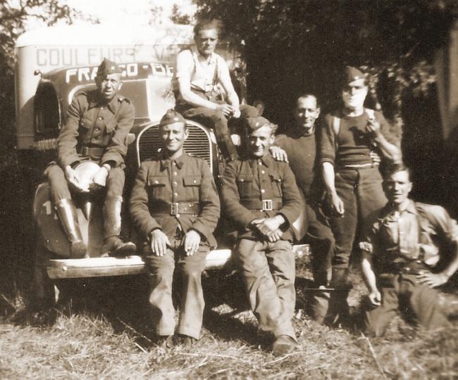 Militairen van het 3DTCA te Malviès.