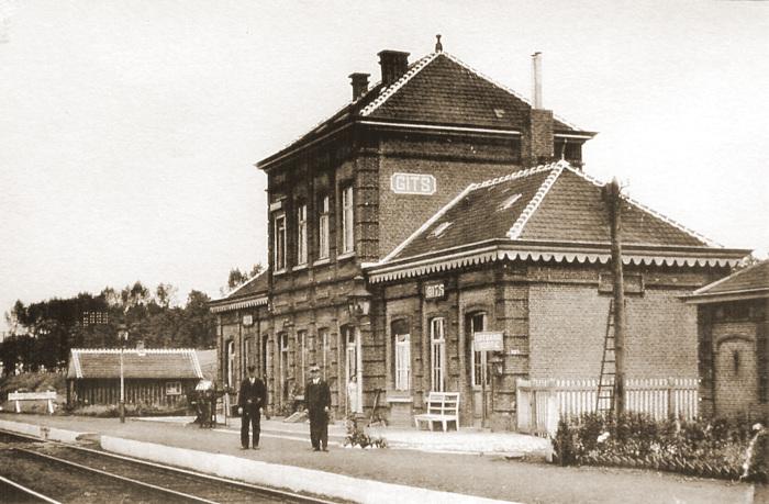 Het station van Gits, uitstapplaats van het 43Li.