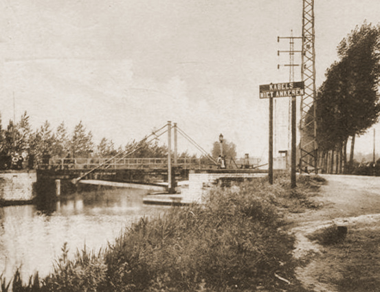 De brug van Tildonk in het onderkwartier van 4J.