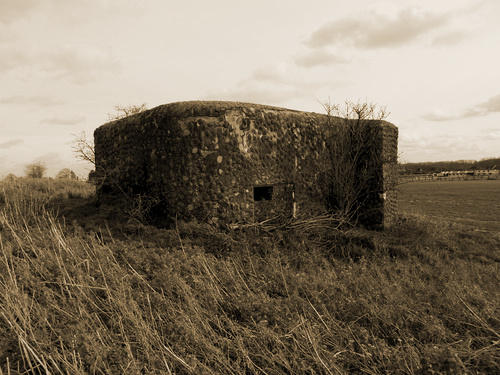 Bunker Mu5 op de Muntekouter was ingericht voor een mitrailleur en een C47 anti-tankkanon.