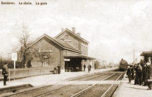 Station van Ekeren waar het I/58Li de nacht van 10 op 11 mei doorbracht.
