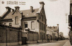 Kazerne van het 5de Legerdepot te Sint-Niklaas waar het 17TTr gemobiliseerd werd