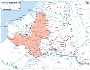 De Duitse voorhoede bereikt de Atlantische kust te Noyelle-sur-Mer op 21 mei.