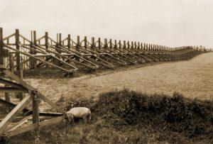 Gedeelte van de K.W. Stelling ten zuidoosten van Bierbeek waar de 7Cie werd ingezet voor het plaatsen van Cointet-elementen.