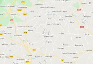 Hergroeperingszone van de 7Div in Zuid-Frankrijk na de Franse capitulatie