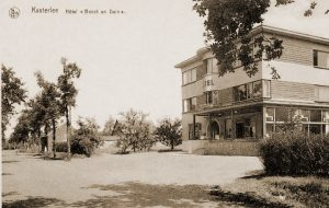 Hotel Bosch en Duin te Kasterlee waar de het HK van de 9Div zich installeerde tijdens de winter van 1939.