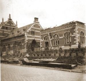 Station Tongeren na het bombardement van 10 mei 1940