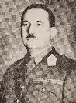 Kolonel SBH Jules Bastin, stafchef van het Cavaleriekorps.
