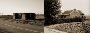 De bunker Av8 langs de Van Thorenburghlaan te Scheldewindeke had origineel het uitzicht van een klein boerderijtje