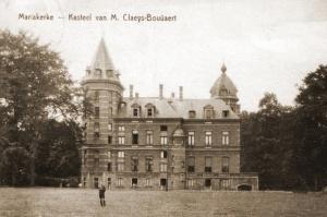 Het Kasteel Claeys-Bouüaert te Mariakerke waar de Staf/2MilCir op 16 mei zijn intrek nam.