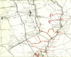Duitse vorderingen oost van Eindhoven tegen het einde van de dag op 10 mei 1940.