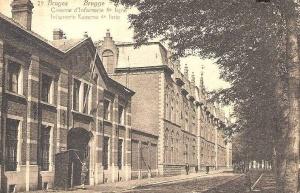 Kazerne Rademakers te Brugge, vredesvoet garnizoen van het 4Li.