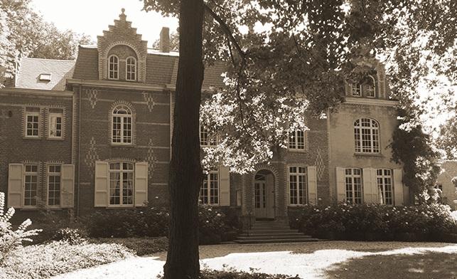 Kasteel Montjoie te Gistel, hoofdkwartier van de Maritieme Basis vanaf 19 mei 1940.