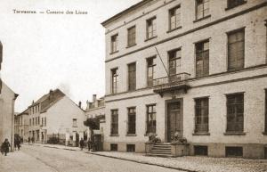 Leeuwenkazerne te Tervuren waar het Pl Tf GHK de telefooncentrale ging uitbouwen