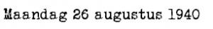 26 augustus 1940